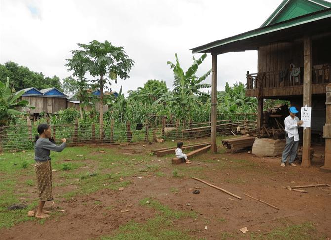 Cambodja Ratanakiri dorp