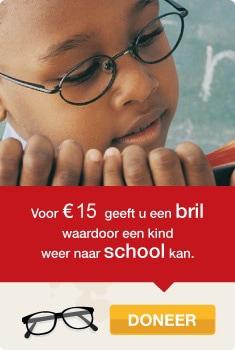 Doneer 15 euro en help een kind naar school met een bril op sterkte